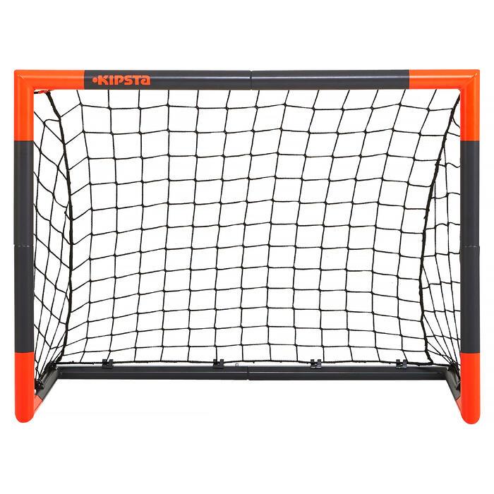 kipsta voetbaldoel classic goal maat s grijs oranje decathlon. Black Bedroom Furniture Sets. Home Design Ideas