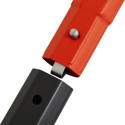 Voetbaldoel FGO 500 maat L grijs oranje