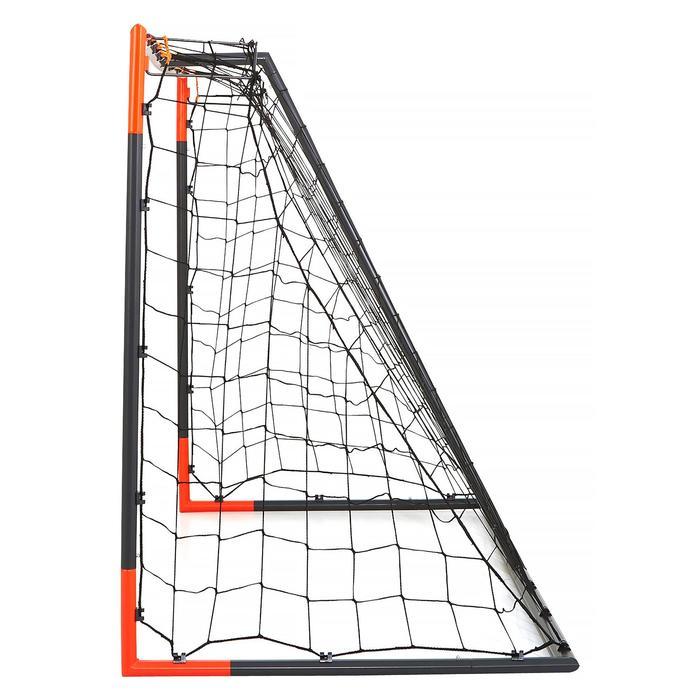 Voetbaldoel Classic Goal maat M grijs oranje