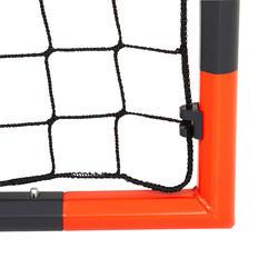 Portería de fútbol Kipsta Classic Goal S gris y naranja
