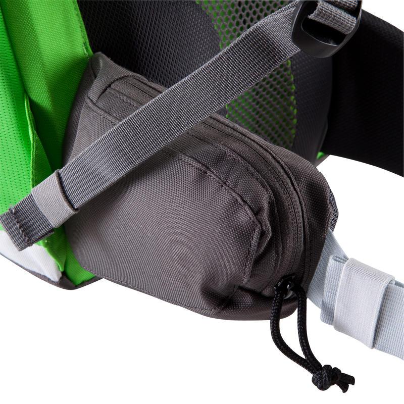 Mochila F 22 AIR Nñ verde gris: espalda ventilada para comodidad muy agradable.