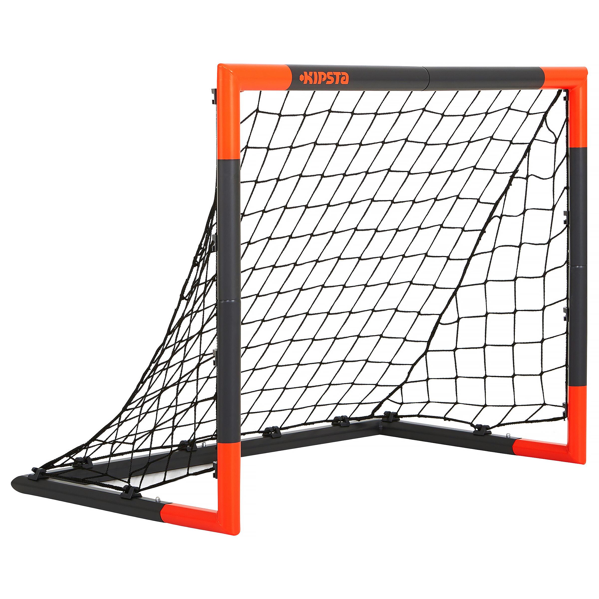 Kipsta Voetbaldoeltje Classic Goal maat S grijs/oranje