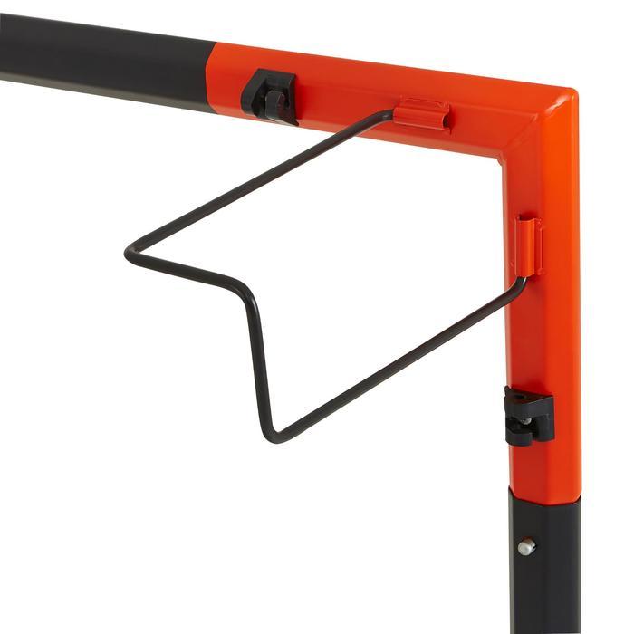 Portería de fútbol Classic Goal 500 talla M gris naranja