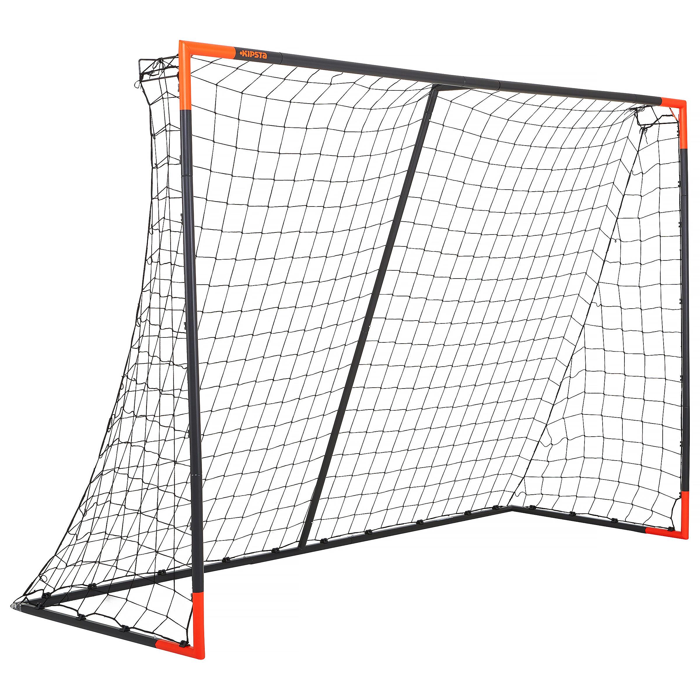 Classic Soccer Size L Goal - Grey/Orange