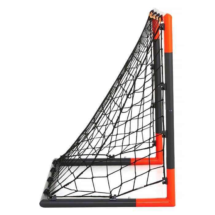 Fußballtor Classic Goal Gr. S 90×70cm grau/orange
