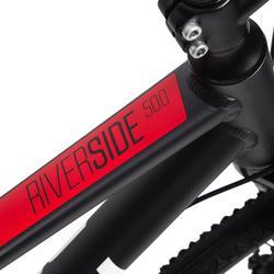 混合單車Riverside 500 - 灰色/紅色