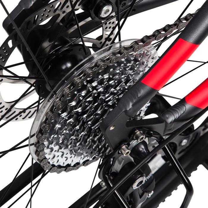 Riverside 500 Hybrid Bike - Grey/Red
