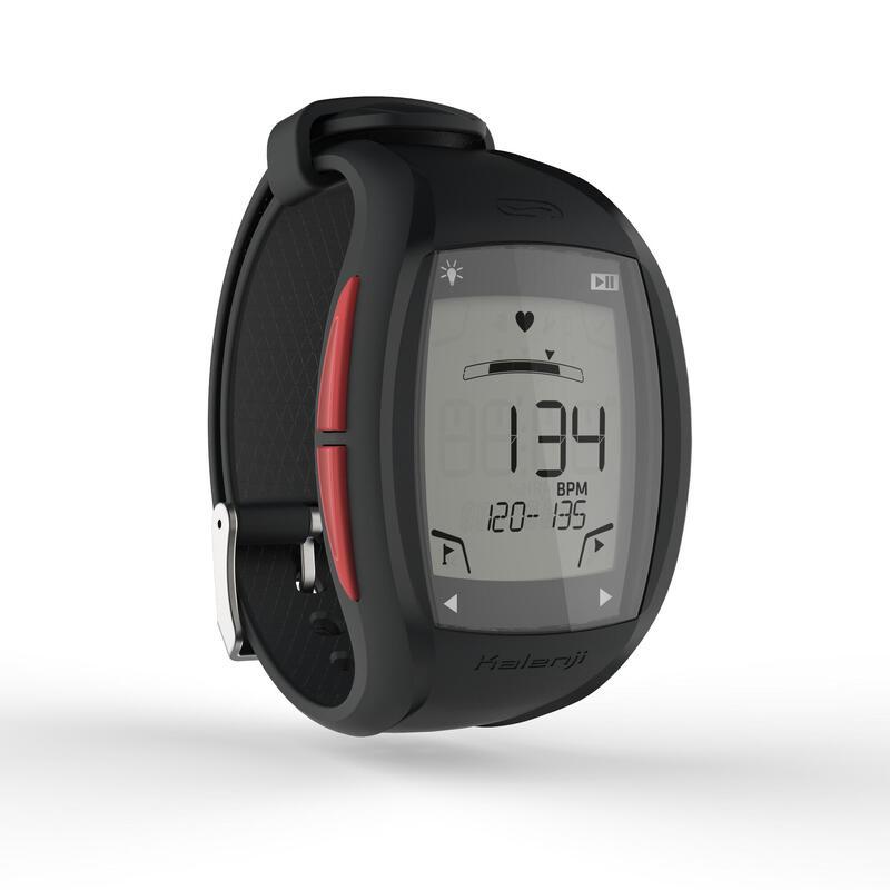 Horloge met hartslagmeter voor hardlopen ONrhythm 500 rood