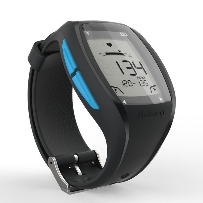 Reloj Pulsómetro Running Kalenji Onrhythm 500 Negro/Azul Bluetooth