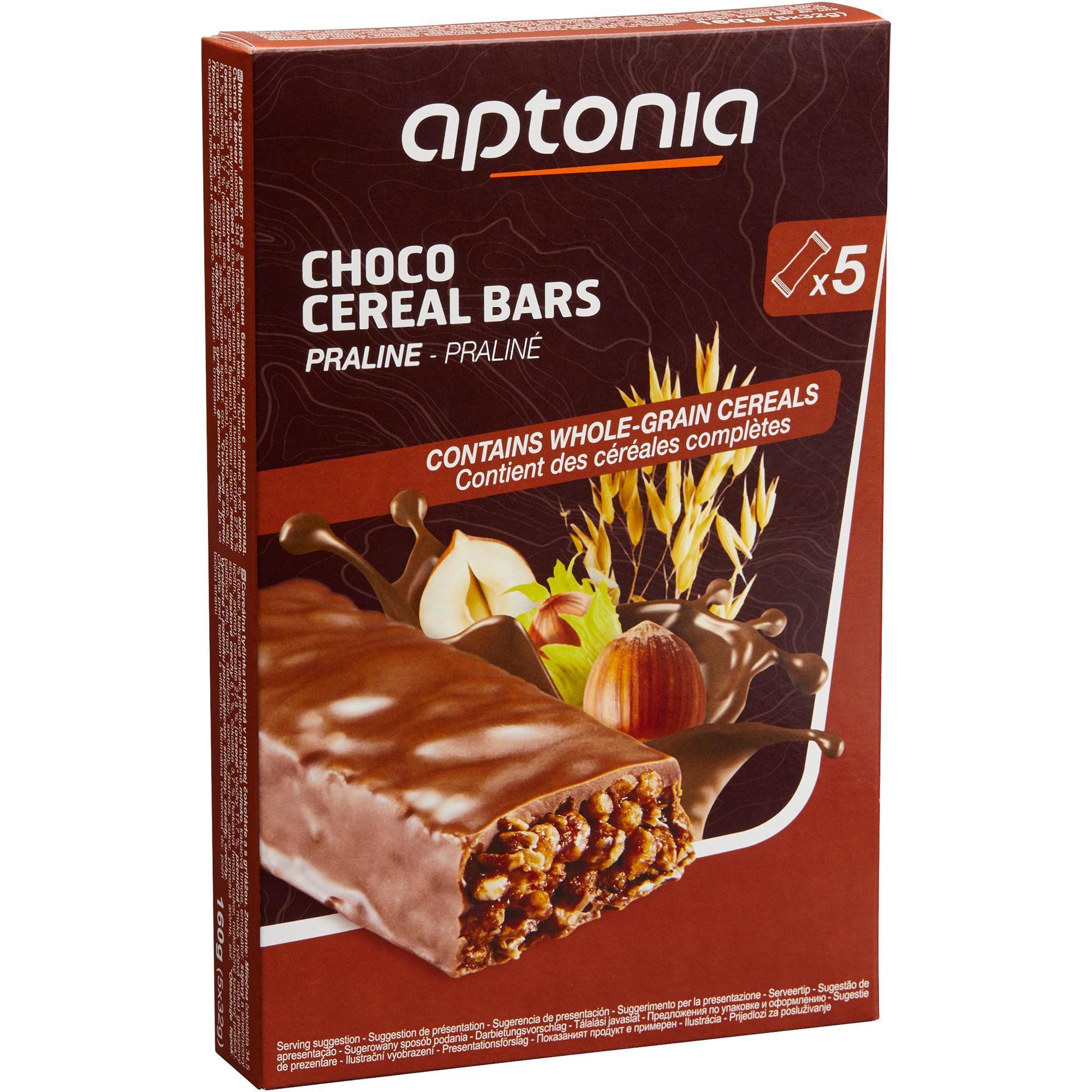 Aptonia Graanreep chocolade/praliné 5x 32 g