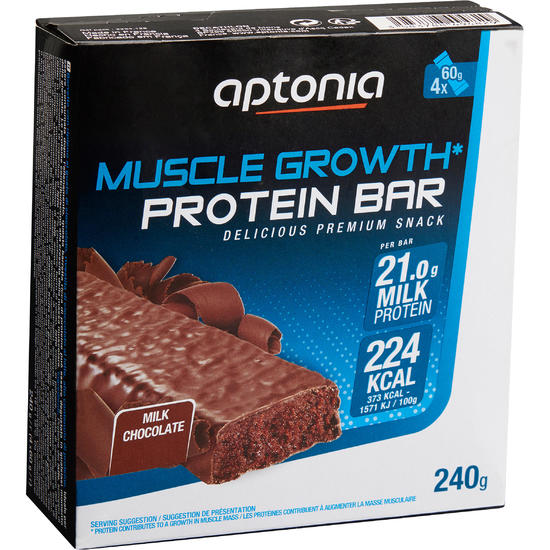Eiwitrepen MUSCLE GROWTH praliné chocolade 4 x 60 g - 1159569