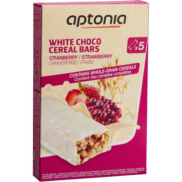 Barre de céréales enrobée Chocolat Blanc Fraise Cranberries 5x32g - 1159588