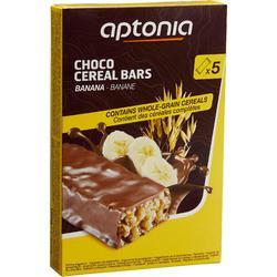 Barrita de cereales recubierta chocolate plátano 5 x 32 g