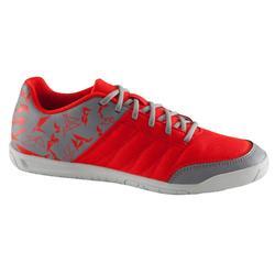 Zapatillas de fútbol sala para niños CLR 500 sala gris rojo
