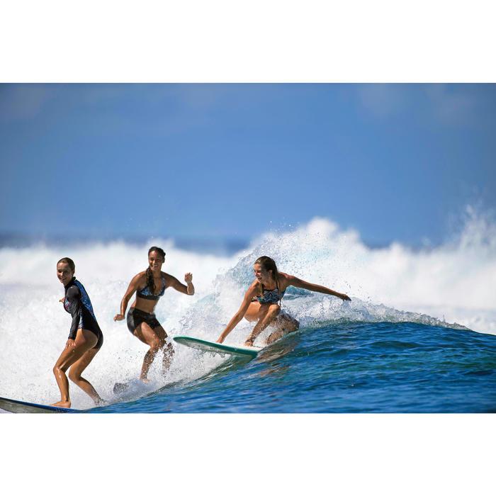 High-neck bikinitop Andrea Ncolo met voorgevormde cups, voor surfen