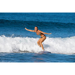 Top Bikini Triangulos Corredizos Olaian Mae Mujer Copas Desmontables Azul Dorado
