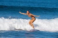 Panty Bikini Surf Anudada Olaian Sofy Foly Mujer Estampado Azul Dorado
