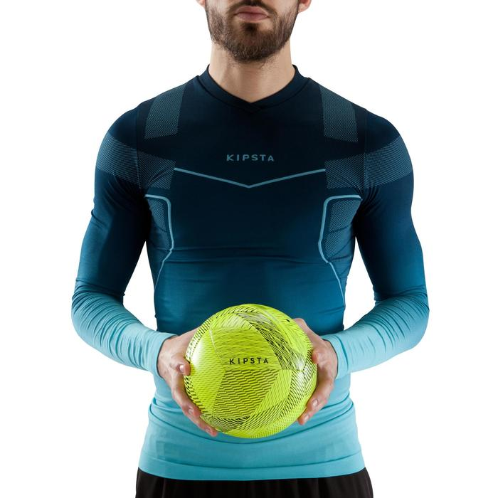 Ballon de Futsal 100 hybride taille 58 cm jaune - 1159882