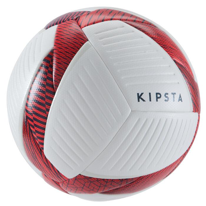 Zaalvoetbal 500 hybride 63 cm wit en rood