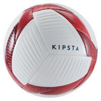 Ballon de futsal 500 Hybride 63 cm blanc et rouge