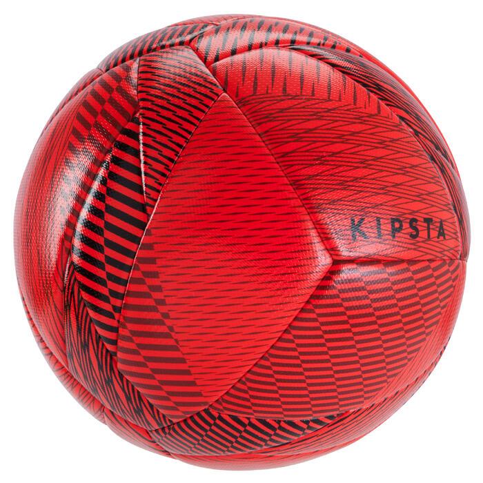 Ballon de Futsal 100 Hybride taille 63cm rouge