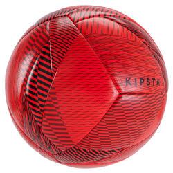 Bal voor zaalvoetbal 100 hybride omtrek 63 cm rood