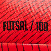 100 Hybrid Futsal Ball Size 63 cm - Red