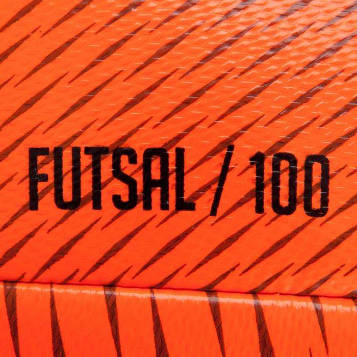 Ballon de Futsal 100 Hybride 63cm orange