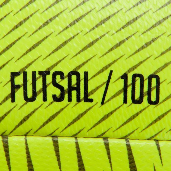 Ballon de Futsal 100 hybride taille 58 cm jaune - 1159978