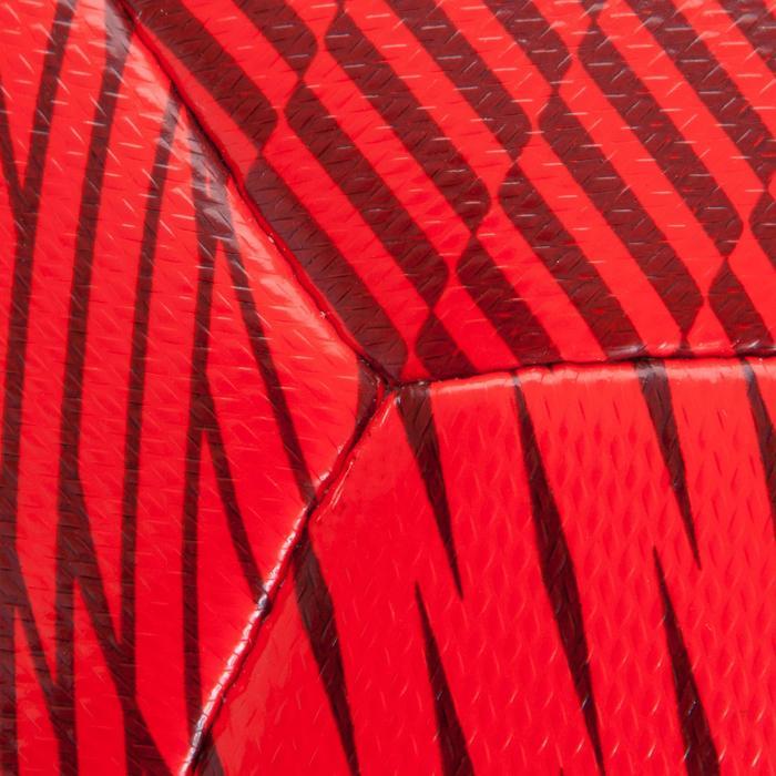 Balón de fútbol sala 100 Híbrido talla 63 cm rojo
