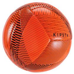 Bal voor zaalvoetbal 100 hybride omtrek 63 cm oranje