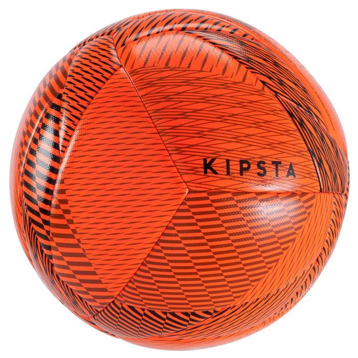 Balón de fútbol sala 100 Híbrido talla 63 cm naranja