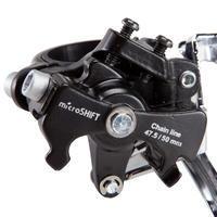 Trīskāršs ķēdes rata priekšējais ātrumu pārslēgšanas mehānisms