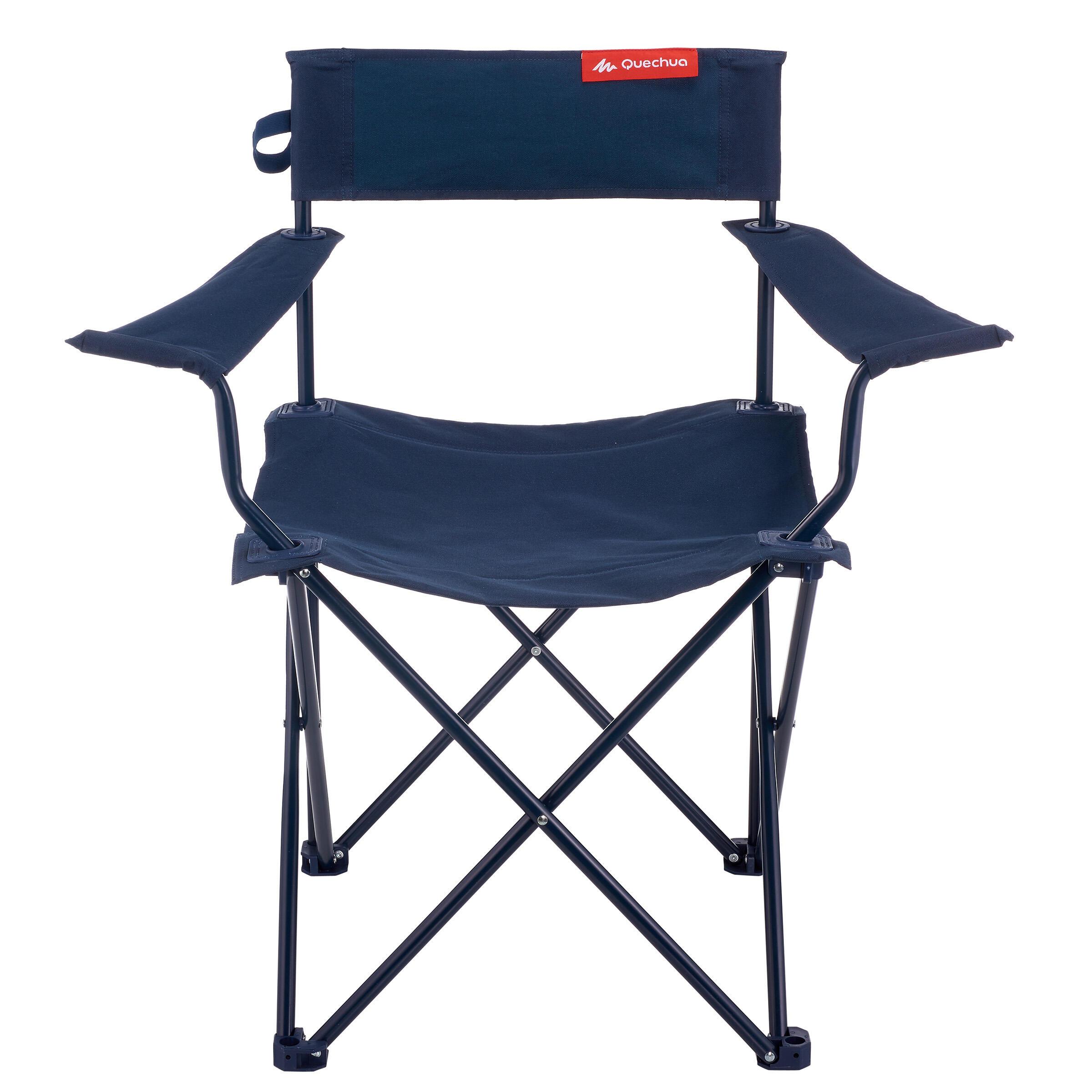 Comprar Silla Plegable Basica Azul Para Camping Decathlon