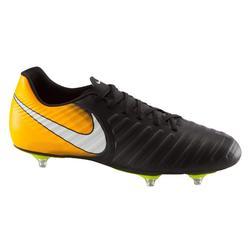 Voetbalschoenen voor volwassenen Tiempo Rio SG zwart oranje