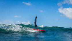 Neopreen top 500 met lange mouwen voor dames, voor surfen, blauw/roze - 1160593