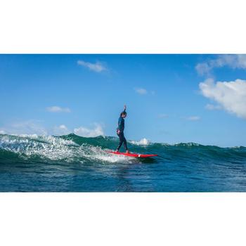 Haut de combinaison surf néoprène Top 500 Manches Longues Femme Bleu Rose - 1160593