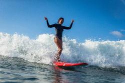 Neopreen top 500 met lange mouwen voor dames, voor surfen, blauw/roze - 1160601