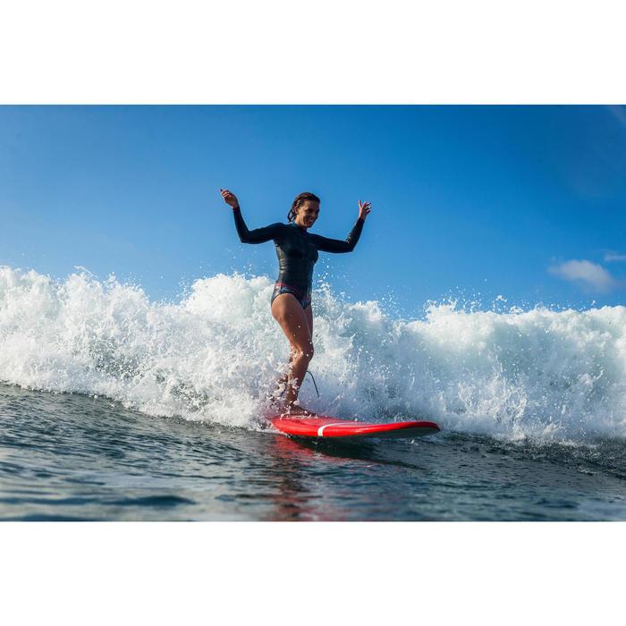 Haut de combinaison surf néoprène Top 500 Manches Longues Femme Bleu Rose - 1160601