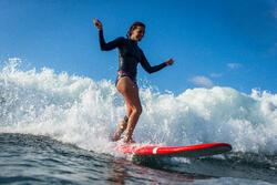 Neopreen top 500 met lange mouwen voor dames, voor surfen, blauw/roze - 1160603