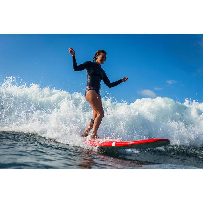 Haut de combinaison surf néoprène Top 500 Manches Longues Femme Bleu Rose - 1160603