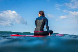 Neopreen top 500 met lange mouwen voor dames, voor surfen, blauw/roze - 1160615