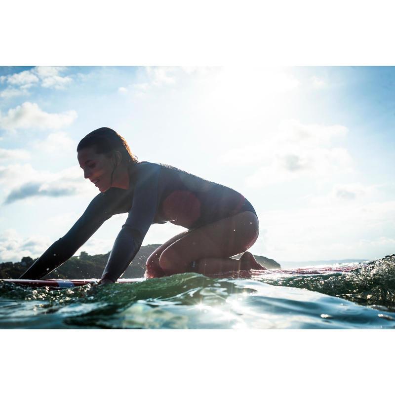 b09621ae139 Haut de combinaison surf néoprène 2mm Top 500 Manches Longues Femme ...