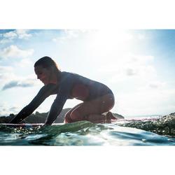 Haut de combinaison surf néoprène 2mm Top 500 Manches Longues Femme Bleu Rose