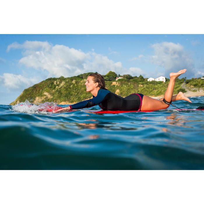 Haut de combinaison surf néoprène Top 500 Manches Longues Femme Bleu Rose - 1160619