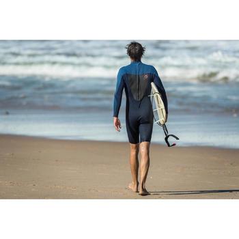 Traje Surf Shorty 500 Neopreno Manga larga Hombre Azul