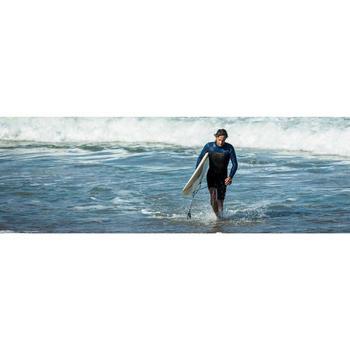Heren shorty 500 met lange mouwen voor surfen neopreen blauw