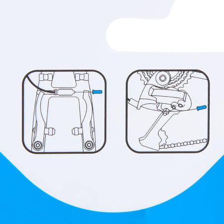 Bremžu trošu caurulītes/ātrumu pārslēgšanas trošu uzgaļi