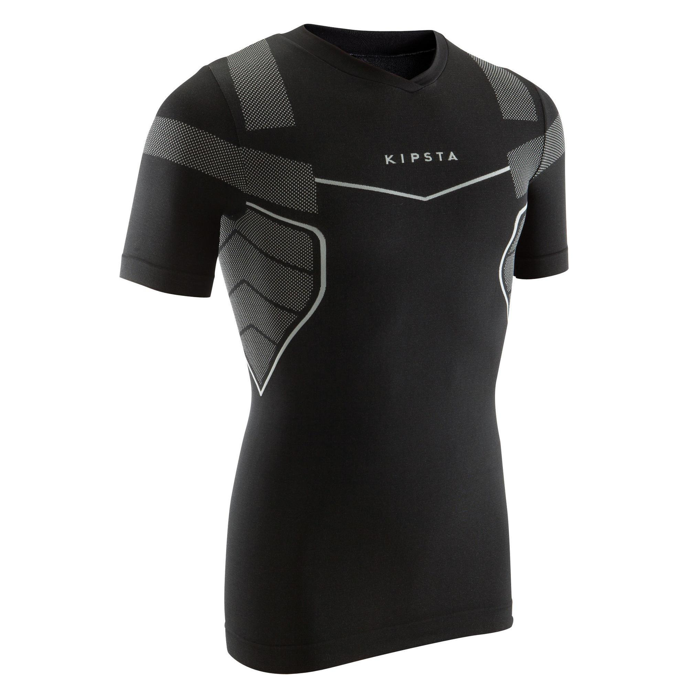 Funktionsshirt Keepdry 500 atmungsaktiv Erwachsene schwarz | Bekleidung > Shirts > Funktionsshirts | Kipsta