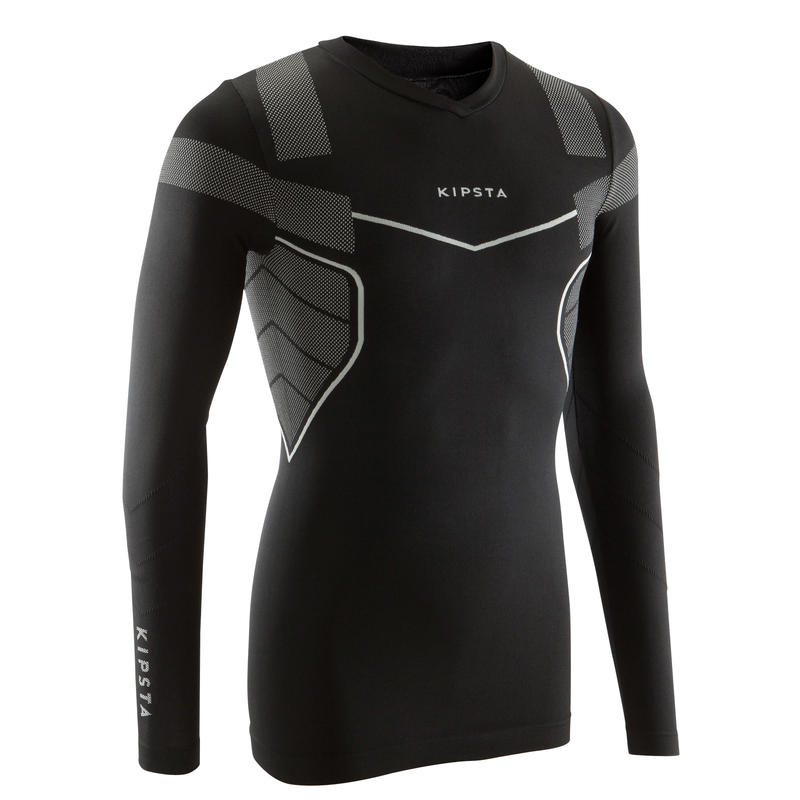 c21982a1 All Sports>Volleyball>Volleyball Clothing>Training Clothing>Football Base  Layer Keepdry 500 - Black